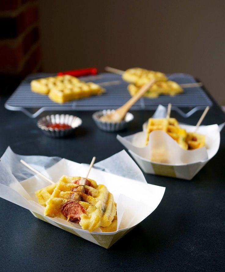... waffles trays hot dogs forward cheddar jalapeños waffle corndogs game