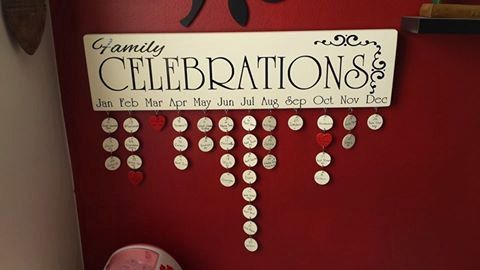Family Birthday Boards: Style 5 by PolyCutz on Etsy
