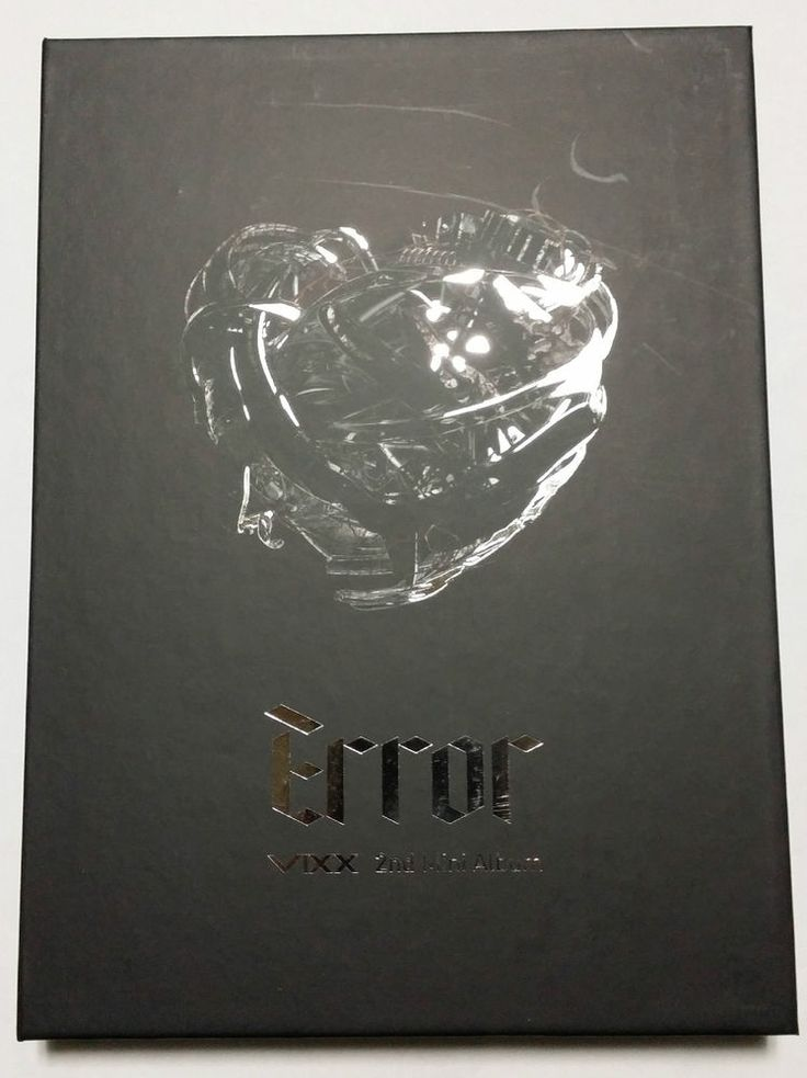 VIXX Mini 2nd Album ERROR Vol.2 CD Photobook Bland NewFolded Poster K-POP Idol