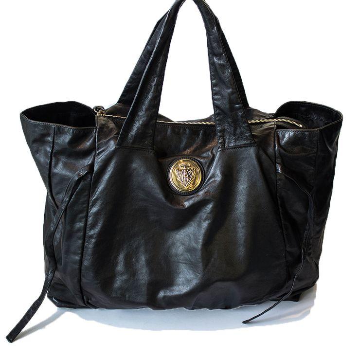 Gucci Black Leather Hysteria Shoulder Bag