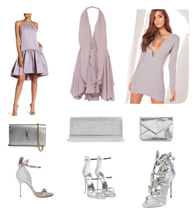 """Cóctel 🌸🍸"" by carolinabeauperthuy on Polyvore featuring moda, Maria Grachvogel, Missguided, ZAC Zac Posen, Giuseppe Zanotti, Yves Saint Laurent, Damsel in a Dress, Jimmy Choo y Sophia Webster"