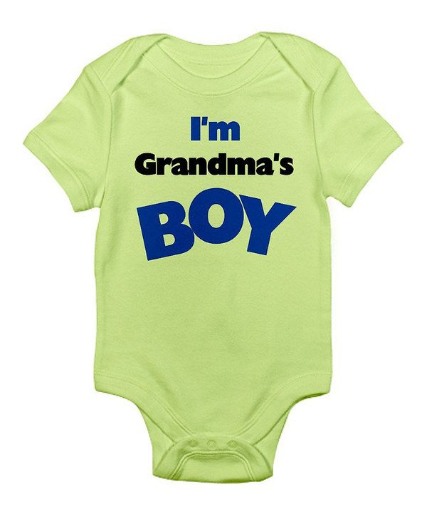 Take a look at this CafePress Kiwi 'Grandma's Boy' Bodysuit - Infant on zulily today!