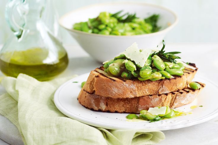 An electric green, deeply flavourful olive oil is the inspiration for David Prior's quick bruschetta where a classic combination of pecorino and fava is made a touch richer with fragrant rosemary.