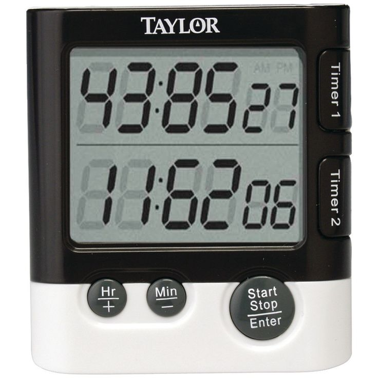 """Taylor Dual Event Digital Timer And Clock 1.5"""" LCD Readout• Times 2 Events Simultaneously • Times Up To 23 Hours & 59 Min • Clock & Date Mode • Each Timer Has Distinctive Ring •includes 1 AAA Battery Stands Clips Or Attaches With Magnet #mycustommade"""