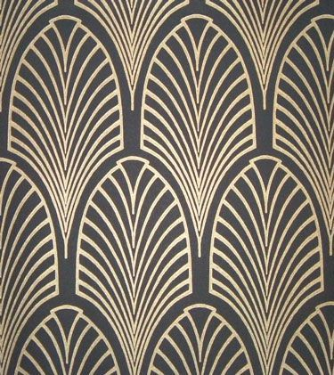 Love this deco-style wallpaper