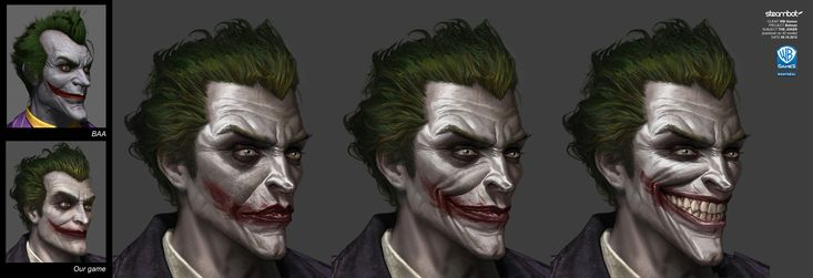 Joker - BATMAN: ARKHAM ORIGINS Concept Art: Character, Weapon & Prop Designs