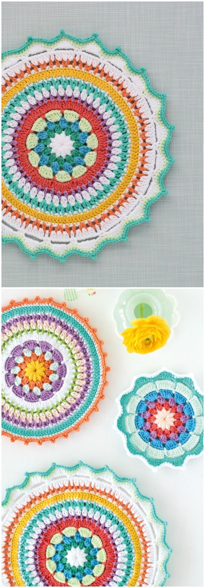 1580 best crochet potholders images on Pinterest | Topflappen ...