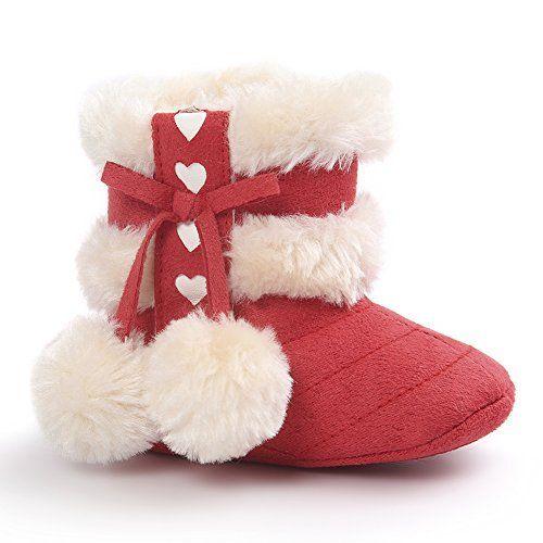 KAKAKI Inifinity Warm Baby Prewalker AntiSlip Sole Toddler Winter Boots Red12