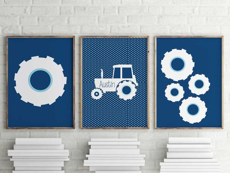 Personalized big tractor wheel package prints, tractors for kids, nursery gift by ThatLittleDude on Etsy https://www.etsy.com/listing/236563092/personalized-big-tractor-wheel-package