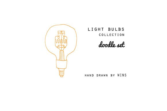 Check out Light Bulbs Doodle Set by WINS Doodle shop on Creative Market