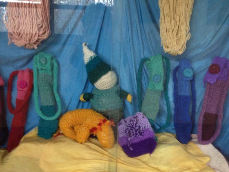 2nd grade Handwork knitting and  3 rd grade Handwork crochet