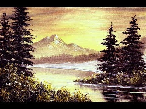Coyote Mountain Snow (5x7) / Small & Simple Oil Painting Exercise - YouTube