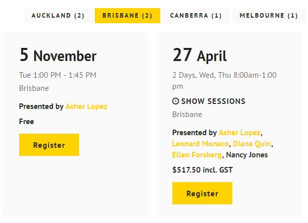 Event Template Page - http://www.nads.net.nz/
