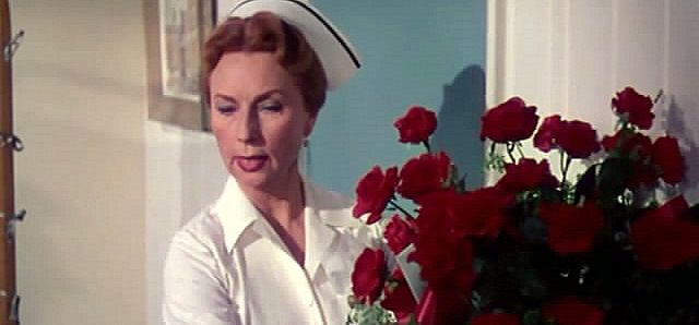 Agnes Moorehead in Magnificent Obsession. Isn't she everyone's idea of the perfect nurse?