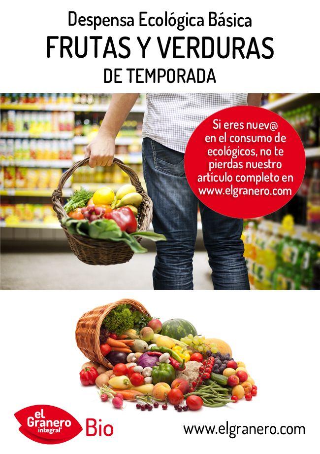 ¿Qué frutas y verduras debe contener una despensa ecológica básica? Descúbrelo pulsando sobre la foto para acceder al artículo completo.