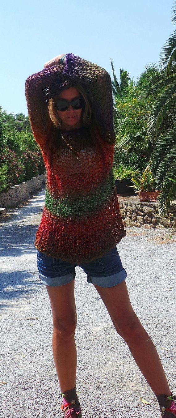 iLE AiYE Sunset sweater by ileaiye on Etsy,