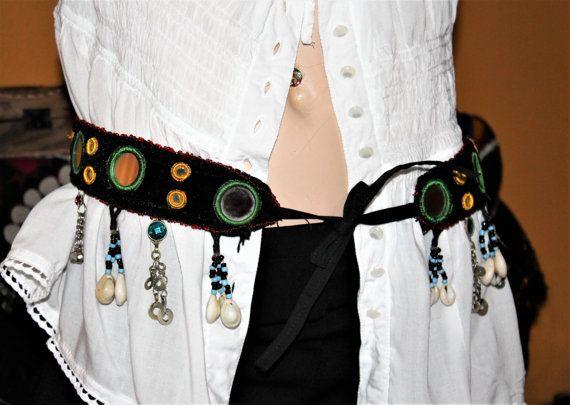 Hippie Gürtel Samt-Tribalgürtel Kuchi von neemaheTribal auf Etsy