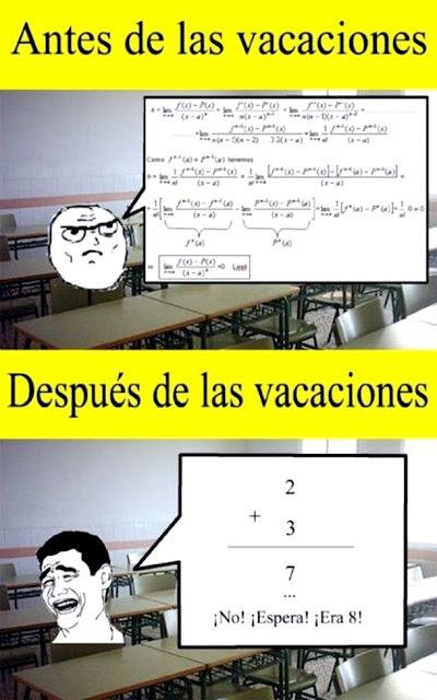 Antes y después de las vacaciones. (great to show before school starts or after Christmas break) #spanish