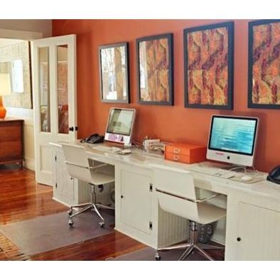 10 Best Images About Home Office Double Desks On