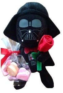Valentine's Day Star Wars 6″ Darth Vader Plush with Rose and Candy Hearts Darth Vader Valentine's Day Plush holding a rose and comes with candy hearts! http://awsomegadgetsandtoysforgirlsandboys.com/teachers-valentine-gift-ideas/ Teachers Valentine Gift Ideas