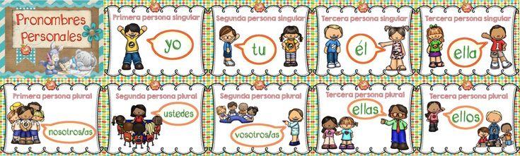 Entretenida actividad para que los niños de primaria aprendan los pronombres personales. ÚNETE A NUESTRA PAGINA DE FACEBOOK:Aprender Jugando Descargar aquí