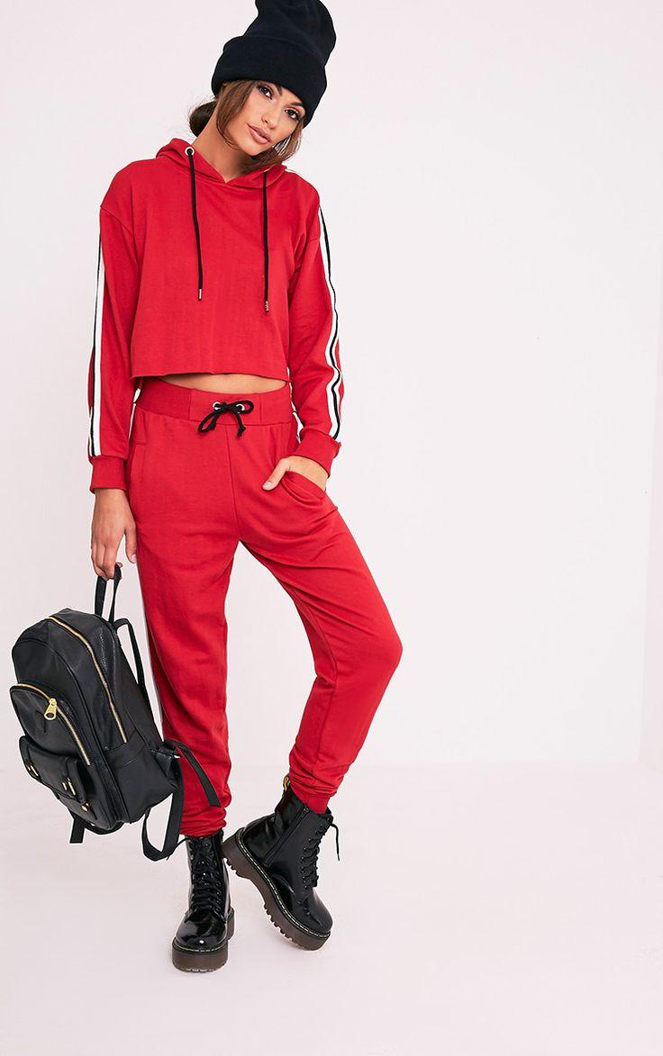Gwen Red Side Stripe Hoody