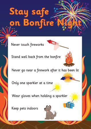Stay Safe on Bonfire Night Poster