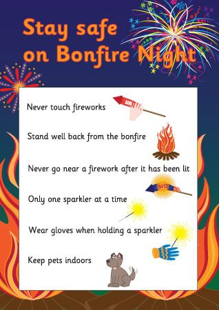 Stay Safe on Bonfire Night Poster                                                                                                                                                                                 More