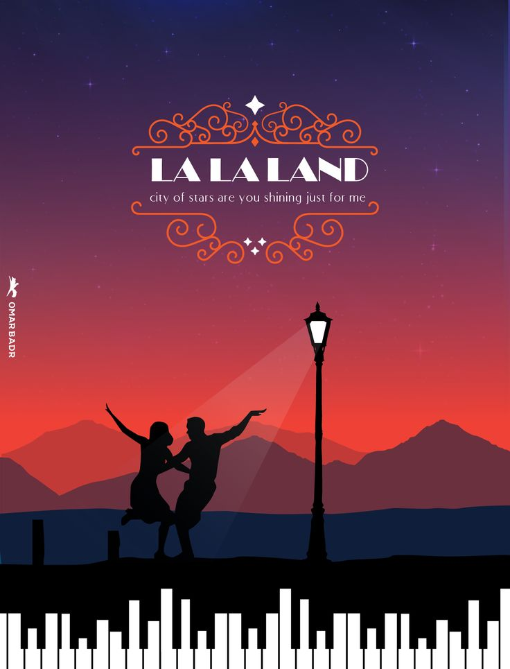 LA LA LAND ILLUSTRATION POSTER BY OMAR BADR