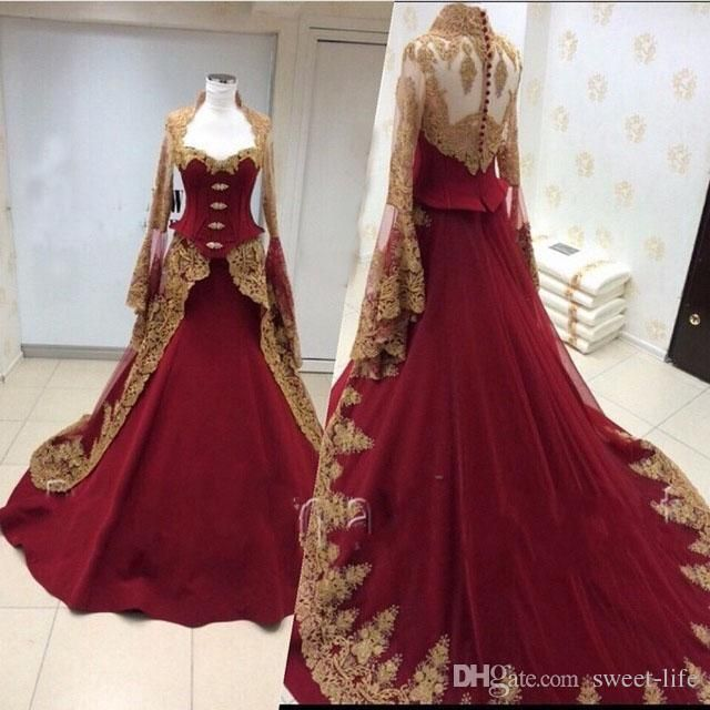 213 best images about evening dresses on pinterest for Burgundy and gold wedding dress