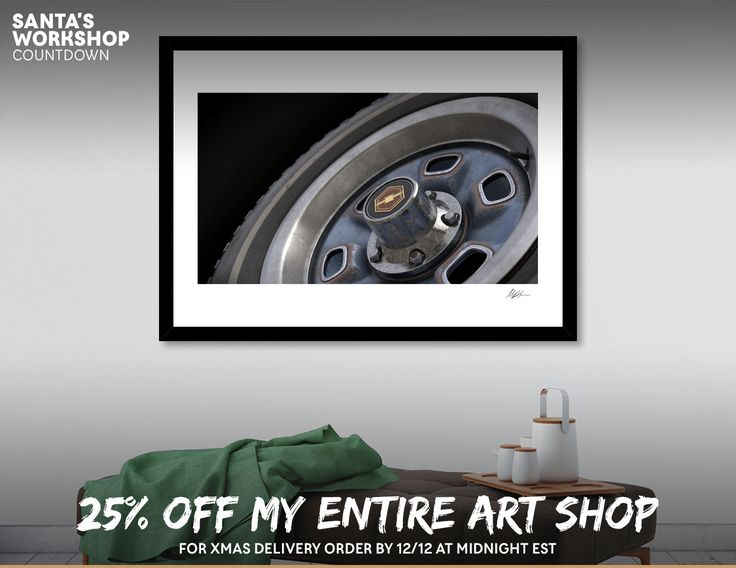 Discover «Old Chevrolet Wheel», Exclusive Edition Fine Art Print by Mischa Annen - From $25 - Curioos