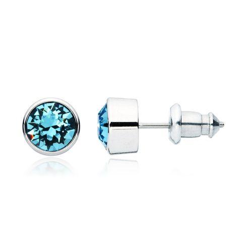Harley Aquamarine Crystal Stud Earrings with Swarovski® Crystals