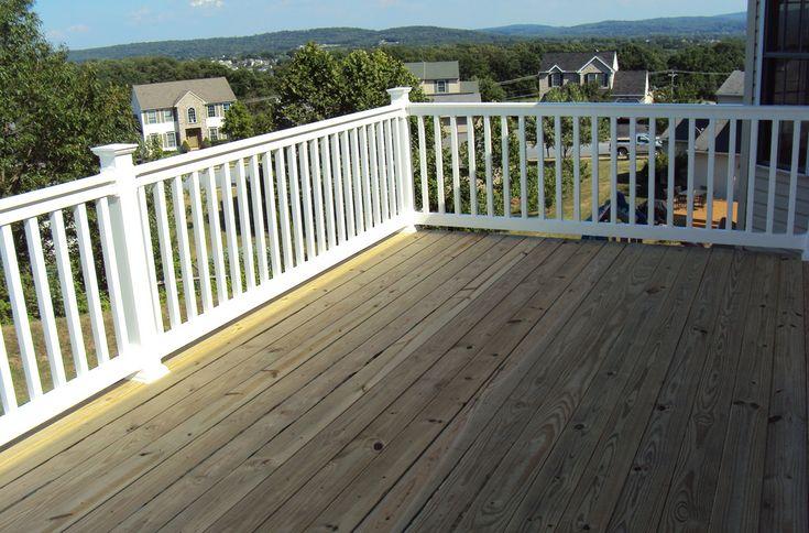 Best 25 vinyl deck railing ideas on pinterest vinyl deck deck railing systems and vinyl railing - Vinyl deck railing lowes ...