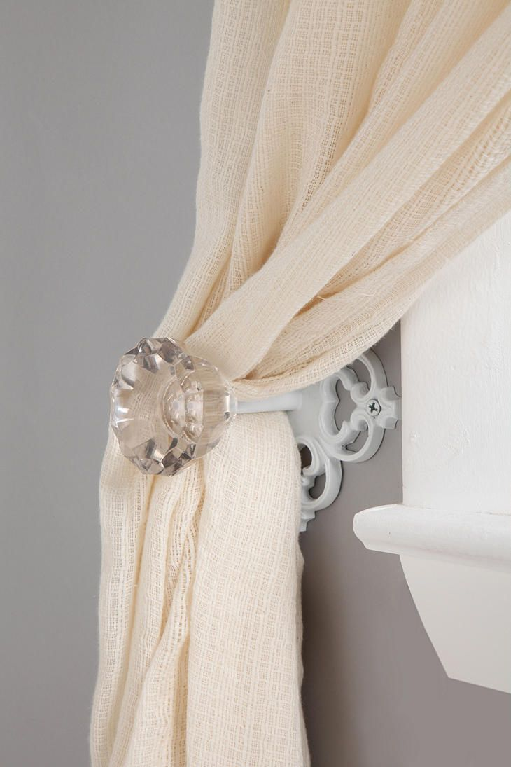 Urban Outfitters scroll doorknob curtain tie-back