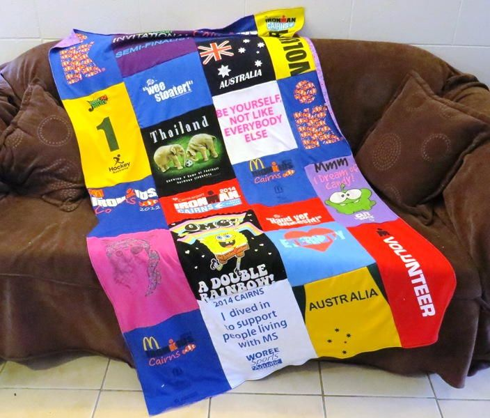 Super Simple T-shirt Quilt | Transform your old t-shirts into a comfy quilt with this easy sewing tutorial!