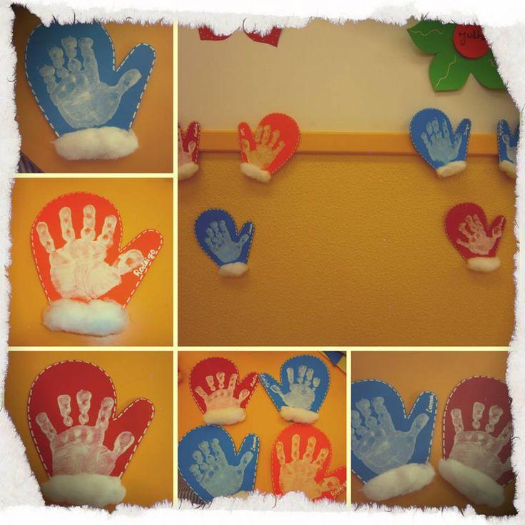 Handschoentjes maken voor kleuters#winter