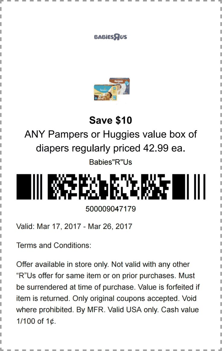 Pinned March 19th: $10 off diapers at #BabiesRUs #TheCouponsApp