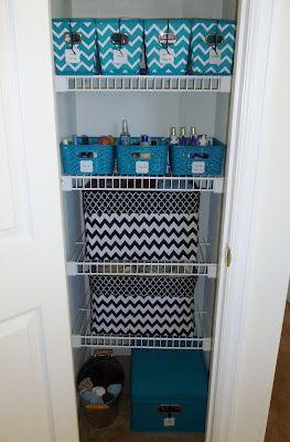 Handmade Simply: Organization: Linen Closet (approx size & shelving of our linen