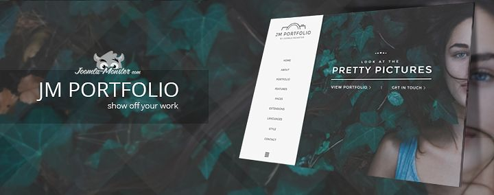 Artists! Show off your #work by using this professional #portfolio #Joomla #template!