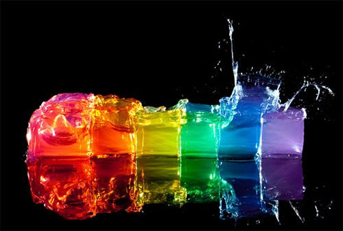 Rainbow Of Ice Cubes