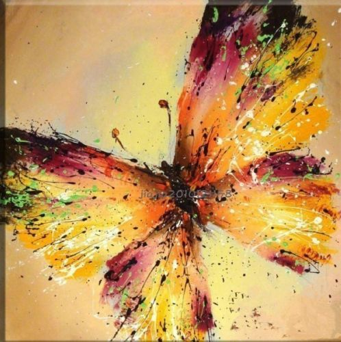 """YH990 NO Frame/""""20x24"""" Pure Hand-painted Canvas Oil Painting Art """"butterfly"""""""
