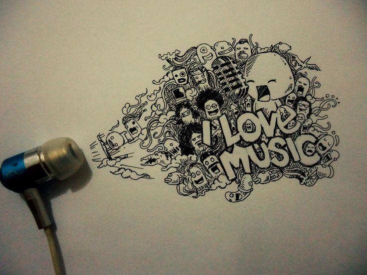 I Love Music Doodle By Naldojunio Deviantart Com On
