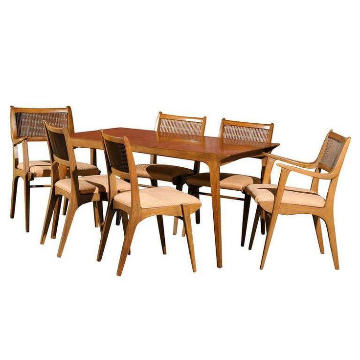 Modernist Dining Set By Van Koert For Drexel. Modern Dining Room SetsDining  ...