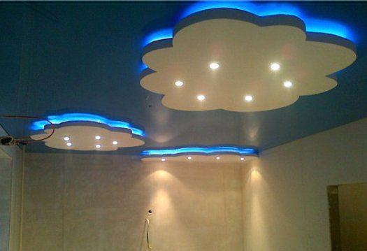 Потолки из гипсокартона – варианты дизайна, виды, фото красивых потолков