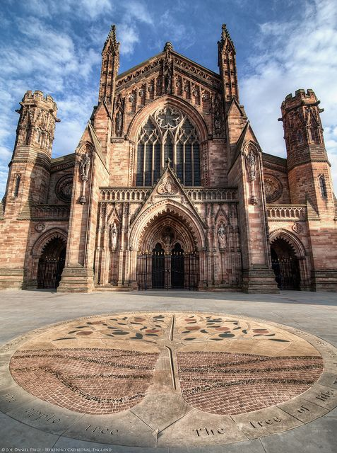 Hereford Cathedral, Hereford, England - built between 1110-1250 AD