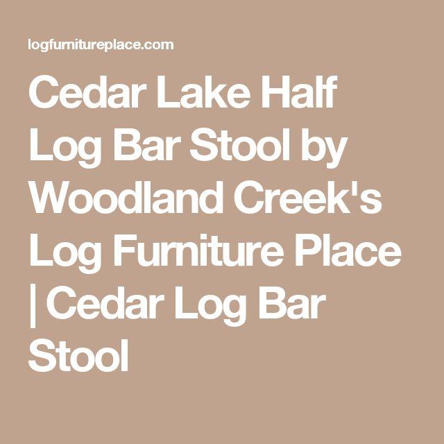 Cedar Lake Half Log Bar Stool by Woodland Creek's Log Furniture Place | Cedar Log Bar Stool