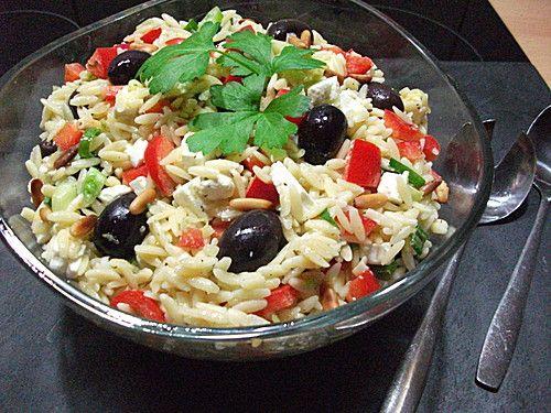 Griechischer Kritharaki Salat