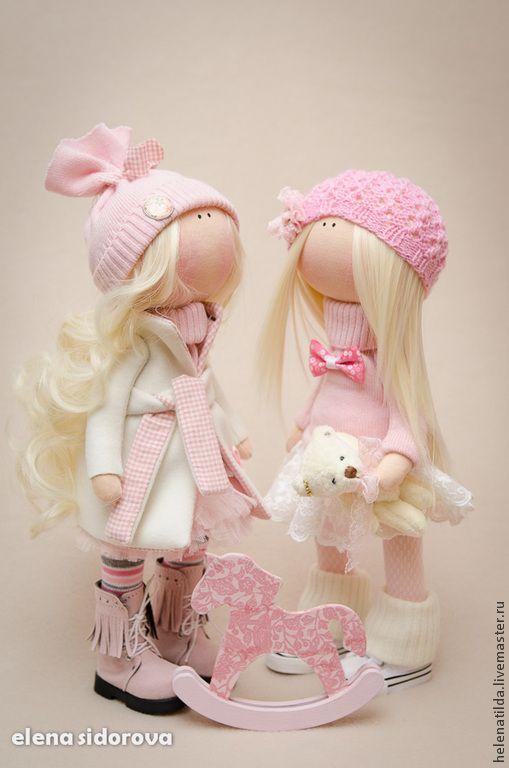 Купить Нежная малышка Мia - бледно-розовый, кремовый, розовый, кукла, куколка, пупс