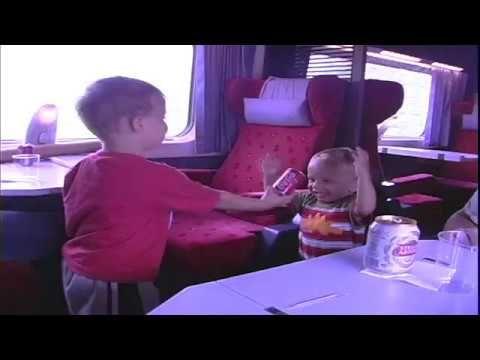 Barb & Ernie:  Grandson Tyee & Julian on train