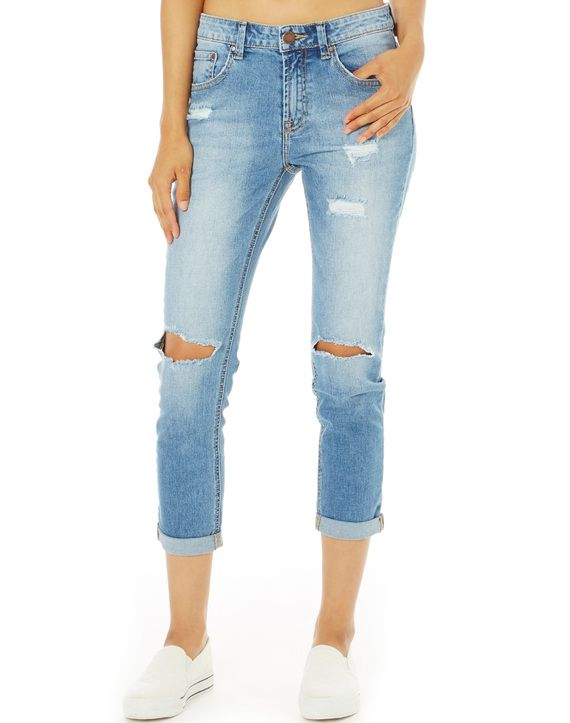 Ripped Slouch Jeans